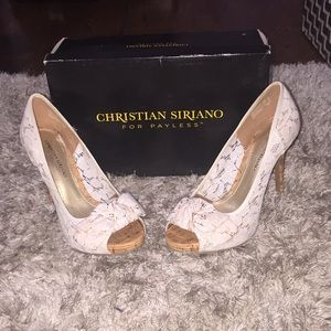 Shoes - Lace & Wooden heels